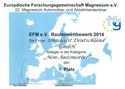 Die casting Competition of European Research Association - German